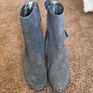 Super cute grey Bebe booties!